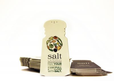 Salt Catering Dye Cut Business Card