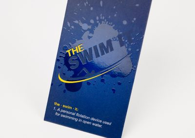 Swim It Spot UV Business Card