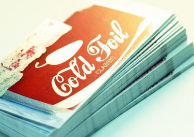 Cold foil Business Card