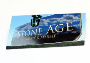 Stone Age Business Card