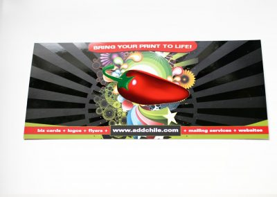 Chile Media Spot UV Rack Card