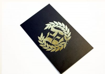 Gold Foil Business Card