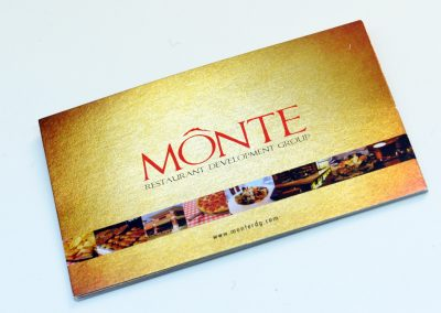 Monte Gold Foil Business Card