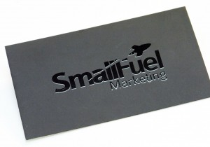 Small Fuel Spot UV Business Card