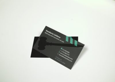 Humberto Saldana Business Card