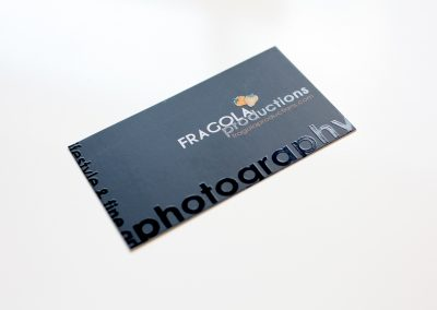 Fragola Productions Silk and Spot UV Business Card