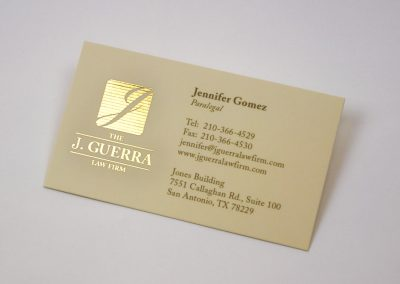J Guerra Gold Foil Business Card