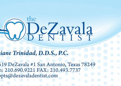 DeZavala Dentist Business Card