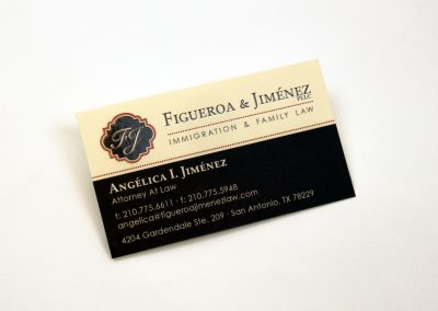 Figueroa & Jimenez Business Card