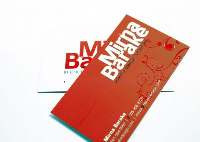 Mirna Barake Spot UV Business Card