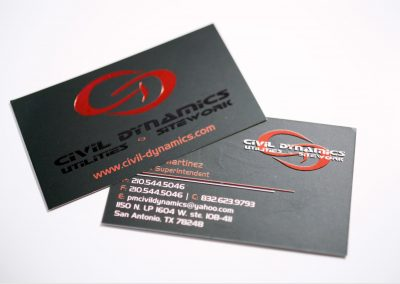 Civil Dynamics Foil Business Card