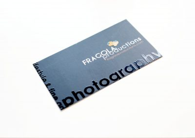 Fragola Productions Photography Business Card