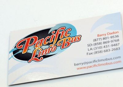 Pacific Limo Bus Business Card