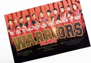 Warriors Miami Postcard