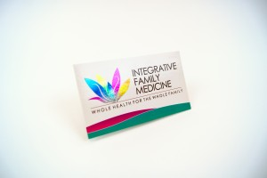 Integrative Family Medicine Foil Business Card