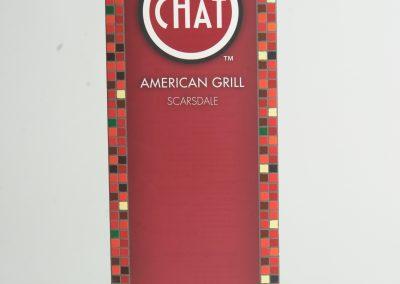 Chat American Grill Menu