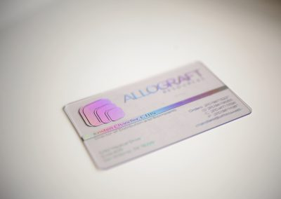 Allograft Transparent Business Card