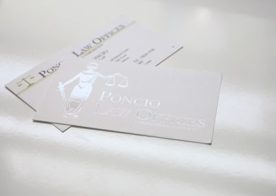 Poncio Law Offices Foil Business Cards