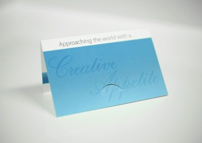 Creative Appetite Folded Business Cards