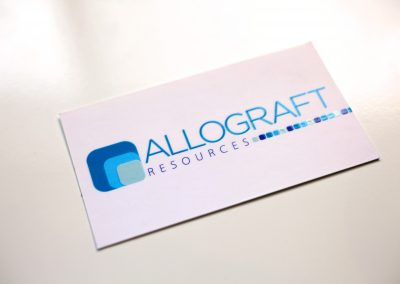 Allograft Resources Business Cards
