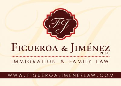 Figueroa & Jimenez Immigration & Family Law Business Card