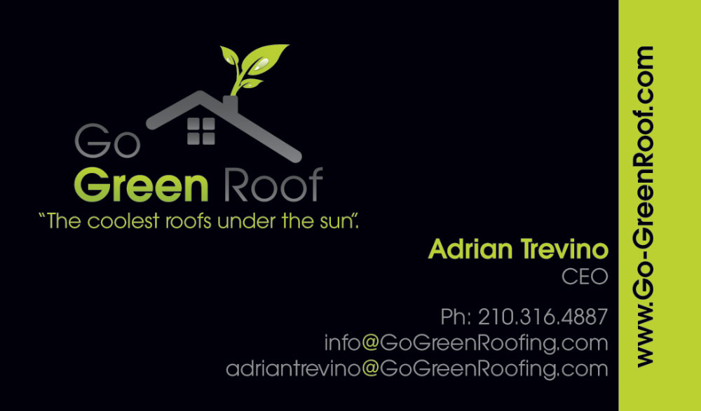 Go green roof business cards chile media for Go business cards