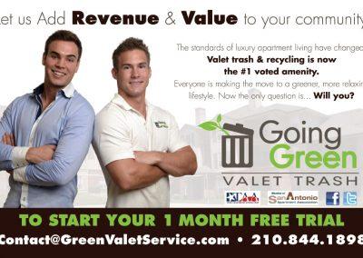 Green Valet Service Postcard