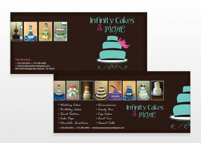 Infinity Cakes Rack Card