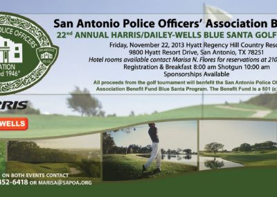 San Antonio Police Officer's Association Benefit Fund Rack Card