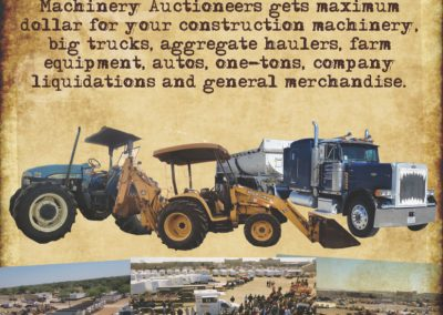 Machinery Auctioneers of Texas Flyer