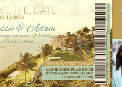 Save The Date Event Ticket