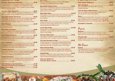 Shisha Cafe To Go Menu